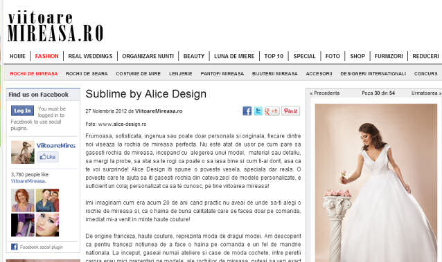 rochii de mireasa 2013 - Sublime by Alice Design