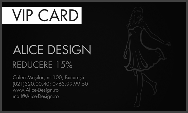 Card VIP Alice Design